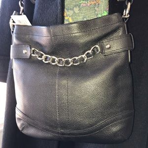 Handbags - Coach Black Leather Handbag NWT